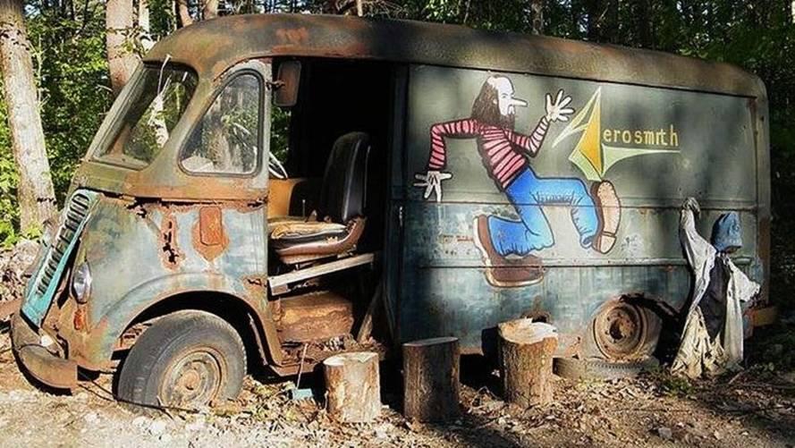 Aerosmith's Original 1964 Touring Van Found In Woods