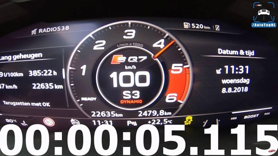 Watch Audi SQ7 Accelerate Like A Proper Sports Car