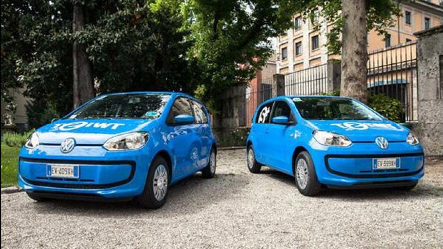 Car sharing, a Milano sospeso Twist con le Volkswagen up!