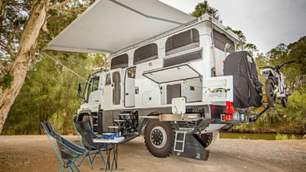 This Mercedes Unimog is a go-anywhere off-roader motorhome