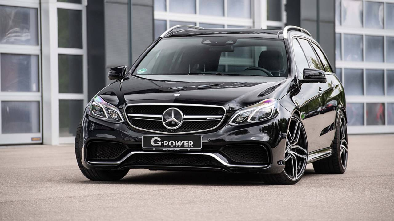 mercedes benz e63 s wagon gets an 800 hp upgrade by g power. Black Bedroom Furniture Sets. Home Design Ideas