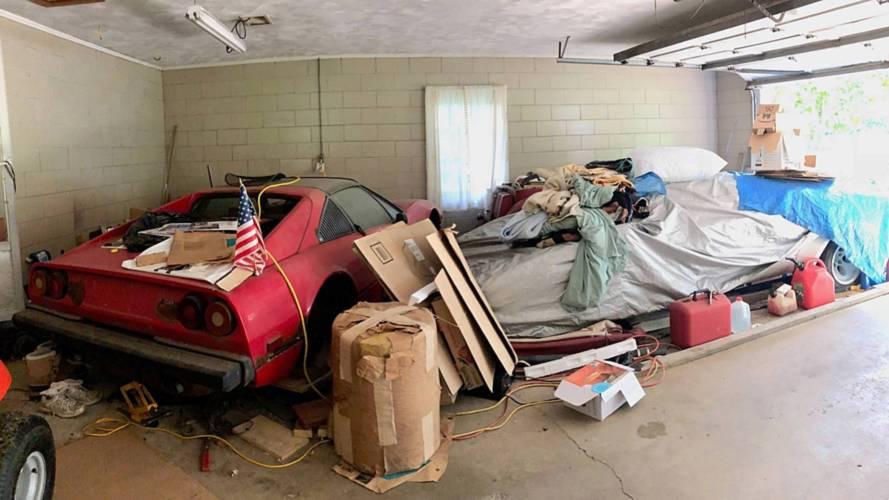 Une Lamborghini Countach retrouvée au garage