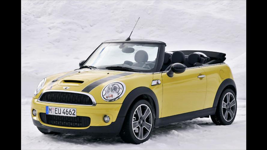 Der Mini, ein Wintermärchen: Das neue Cabrio im Schnee