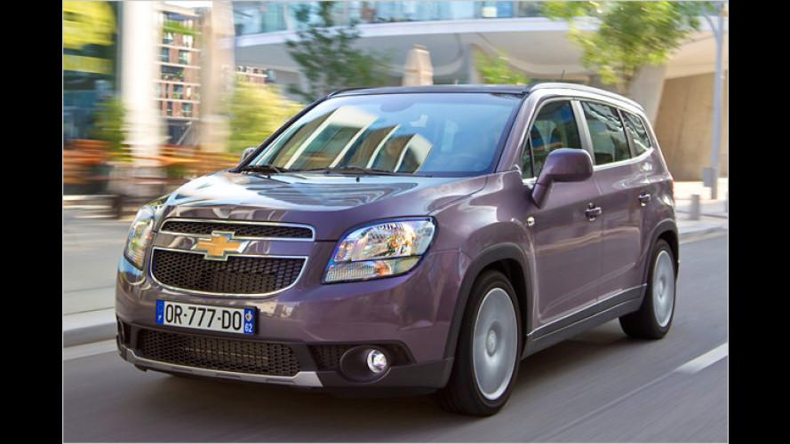 Chevrolet Orlando: Früh buchen, viel sparen