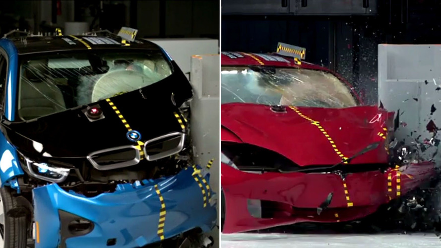 Tesla Model S and BMW i3 IIHS test results