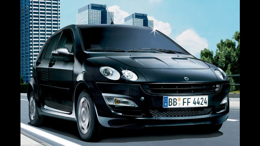 Smart Forfour: Sondermodell Blackbasic nun auch mit Diesel