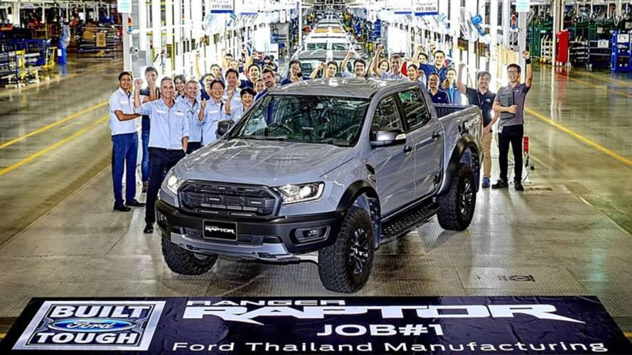 Ford inicia produção em série da Ranger Raptor na Tailândia