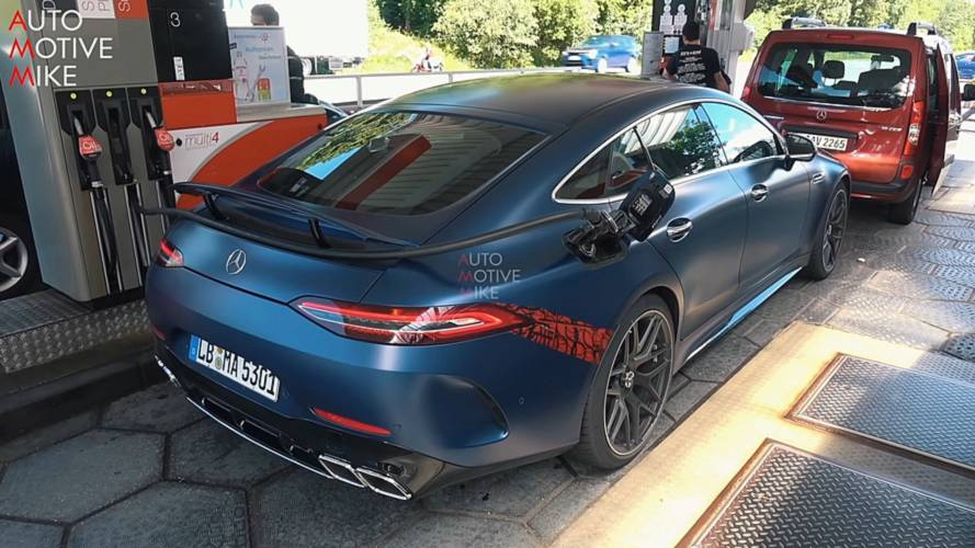 Mercedes-AMG GT 4-Door Coupe Looks Cool In Satin Blue