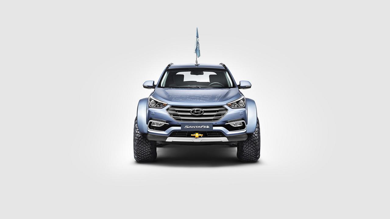 Hyundai Santa Fe Güney Kutbu'nda.