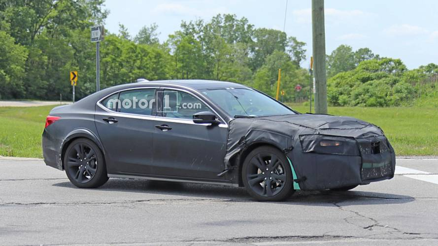 Bizarre, Turquoise Acura TLX Test Mule Spied On The Road