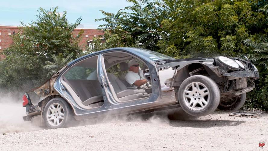 4K Slo-Mo Video Of Mercedes Hitting Potholes Is Automotive Gore