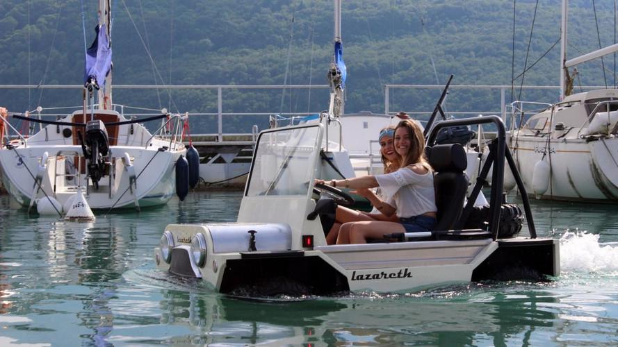 Avec Lazareth, la Mini Moke devient amphibie !
