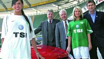 VfL Wolfsburg with Volkswagen TSI logo