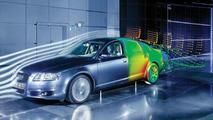 Audi A6 aerodynamics wind tunnel testing
