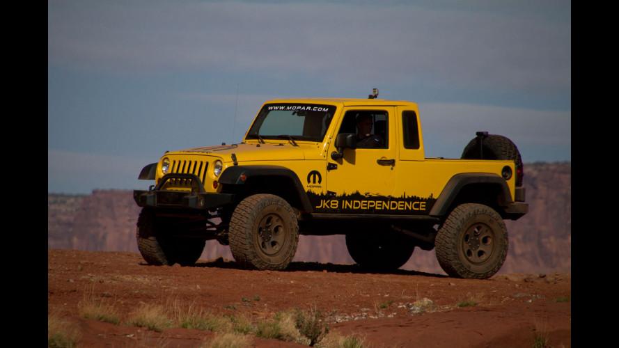 Mopar trasforma la Jeep Wrangler in pick-up