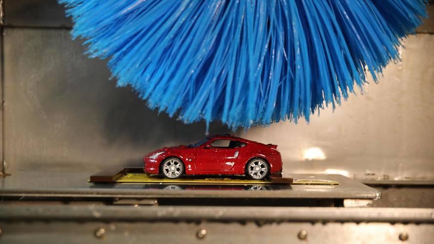 Así es el túnel de lavado a escala de Nissan