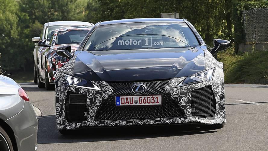 Lexus LC F spy photos