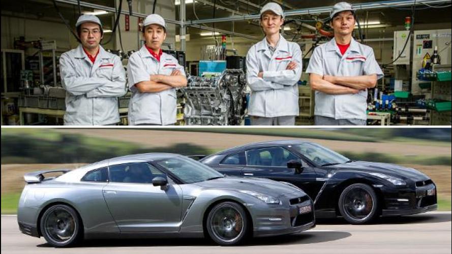 Nissan GT-R, 100 anni di esperienza per farla a mano