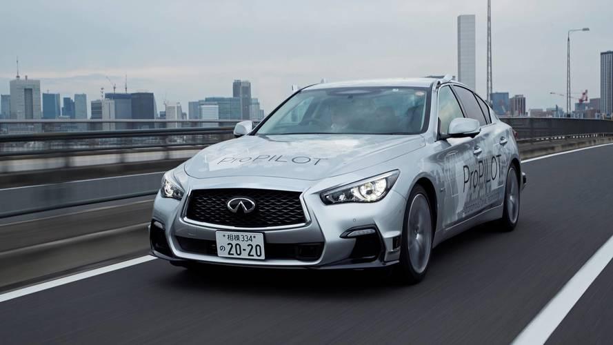 Nissan lance une Infiniti Q50 autonome dans les rues de Tokyo