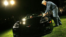 Jay Leno with his Chevrolet Corvette C6RS