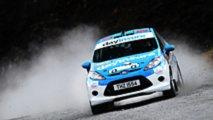 Ford Fiesta Rally Car Zip Line Stunt