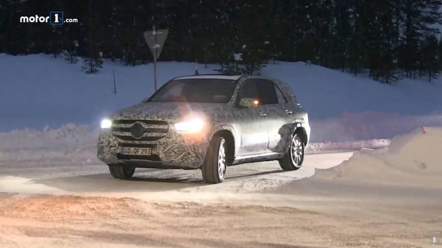 Yeni Mercedes GLE prototipleri karlı yollarda