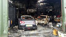 Nissan GT-R mağazası yandı