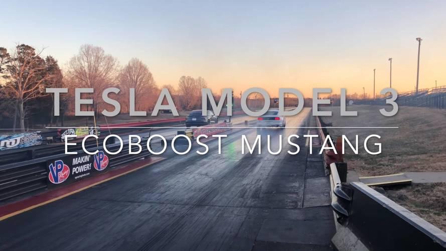 VIDÉO - La Ford Mustang se frotte à la Tesla Model 3