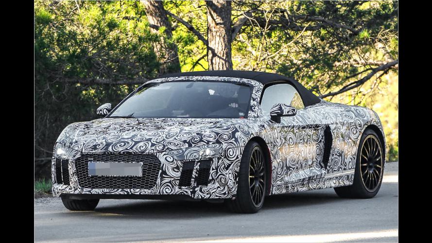 Audi R8 Spyder: Erlkönig erwischt