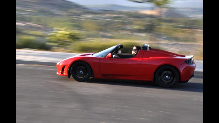 Tesla Roadster, provare per