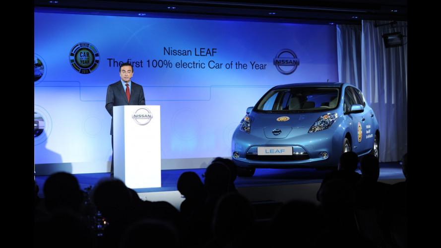 La Nissan Leaf riceve a Parigi il premio