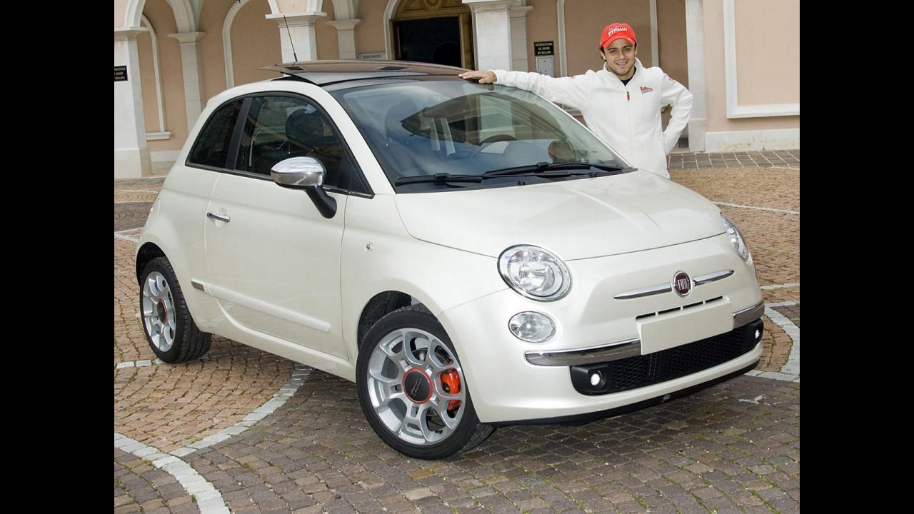 Una Fiat 500 per Felipe Massa