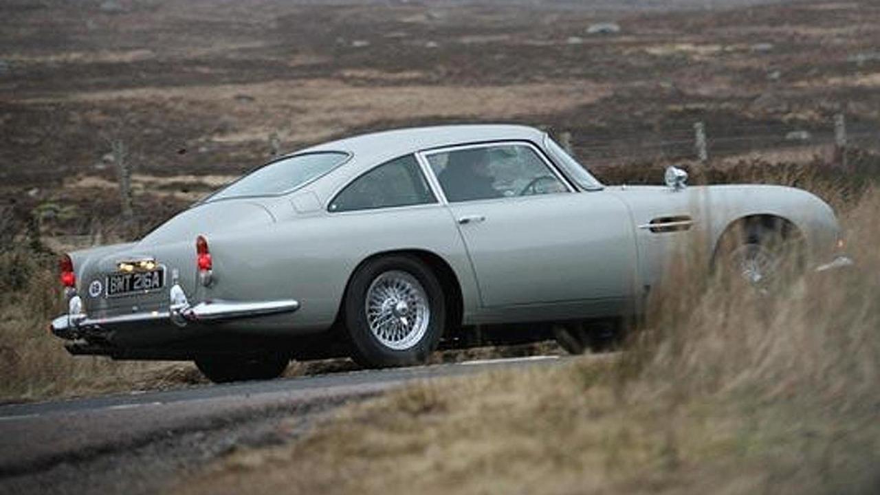 Attractive Iconic Aston Martin DB5 On Set On New James Bond Movie Skyfall Near Glencoe