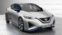 Next-gen Nissan Leaf render