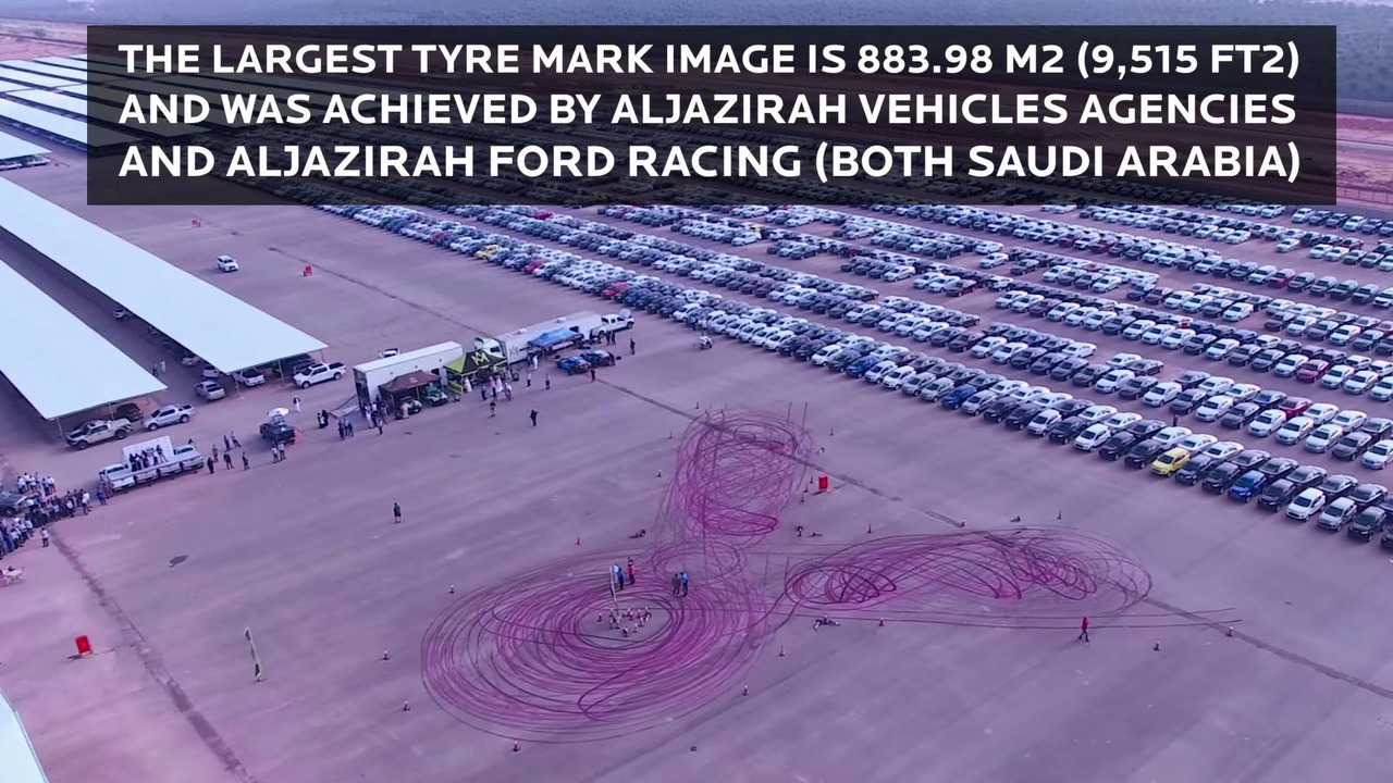 Largest tire mark image world record