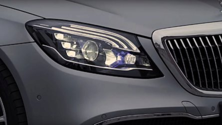 This Maybach S-Class Talks To People Through Its Headlights