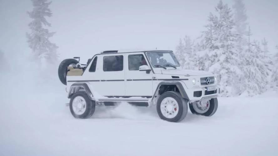 Maybach G650 Landaulet karda eğleniyor