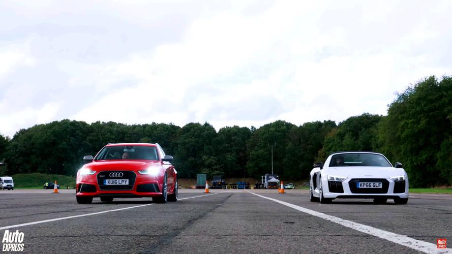 Audi RS6, R8 Spyder'ı drag yarışında geçebilir mi?