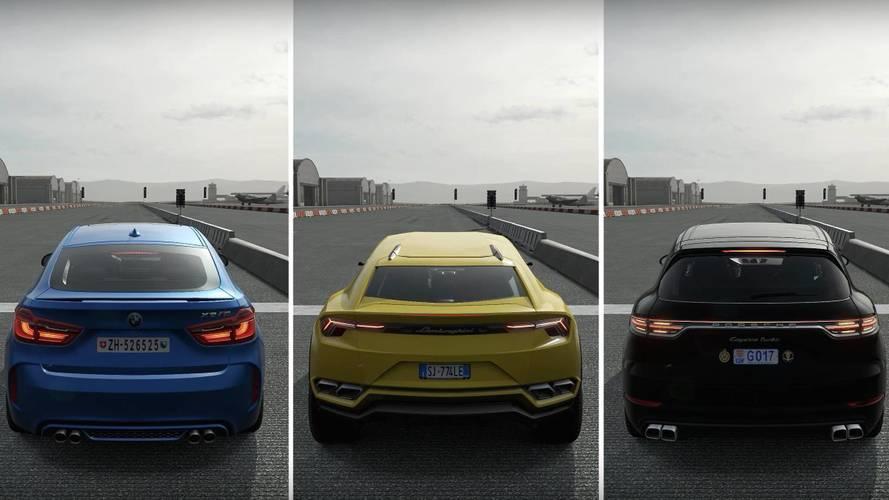 Le Lamborghini Urus bat le Porsche Cayenne Turbo et le BMW X6 M... dans Forza