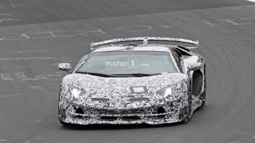 2019 Lamborghini Aventador SV Jota new spy photos