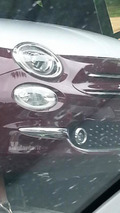 Fiat 500 facelift spy photo / alvolante.it