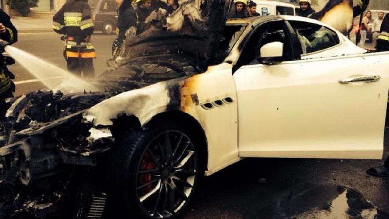Good Maserati Quattroporte Burns In Azerbaijan