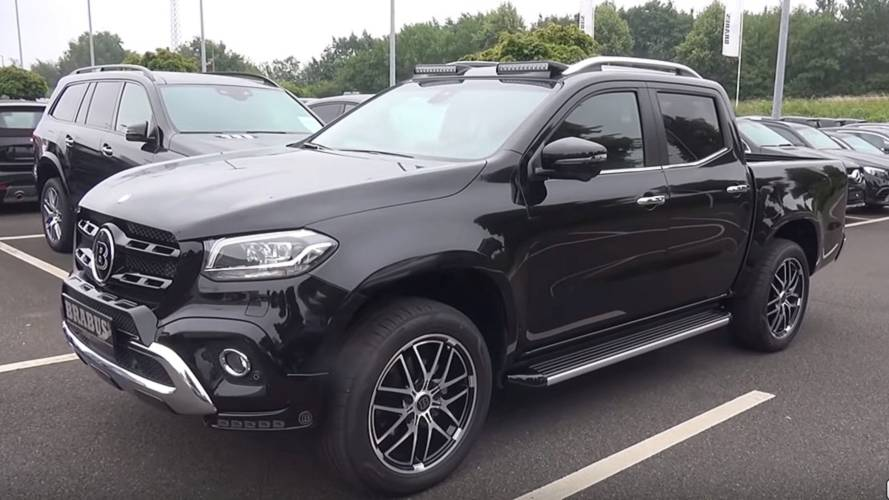 mercedes x class by brabus detailed in extensive video. Black Bedroom Furniture Sets. Home Design Ideas