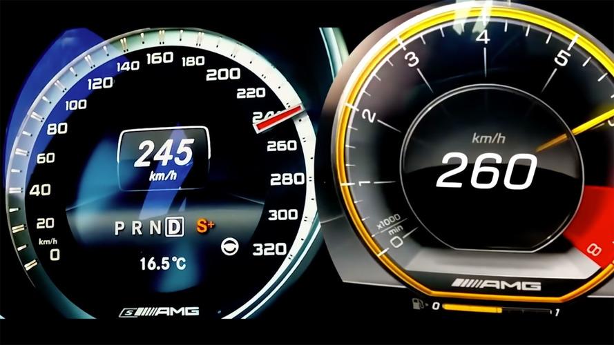 AMG E63 S'in 2014 ile 2018 modellerinin hızlanmaları kıyaslanmış