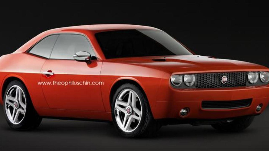 Fiat 128 Sport Coupe resurrected through Dodge Challenger based rendering