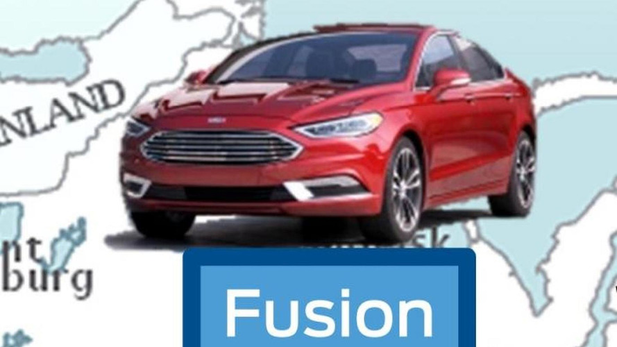 Possible 2017 Ford Fusion shows up in a corporate document