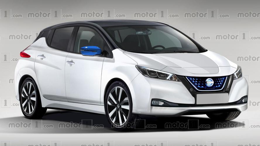 2018 Nissan Leaf Render Previews Massively Improved Design
