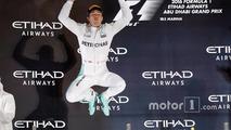 Podyum: Yeni F1 şampiyonu Nico Rosberg, Mercedes AMG F1 ikinci sırada