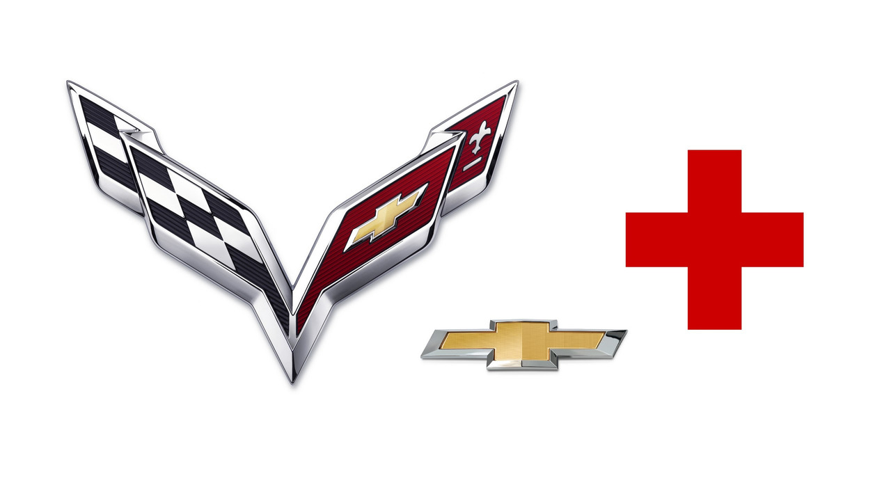 Chevy, Corvette logos and the Red Cross symbol