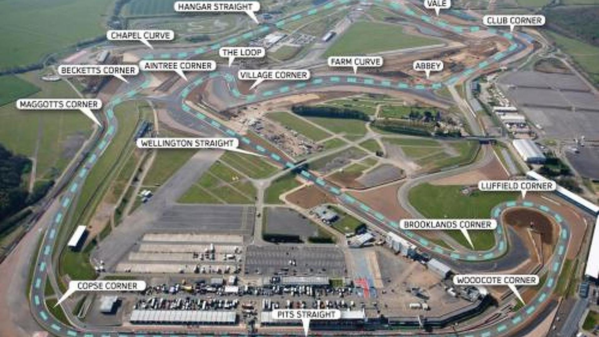 New Silverstone not faster than Monza